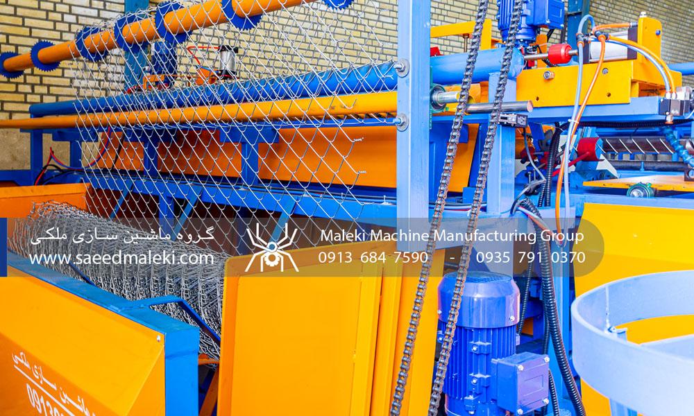 بخش مکانیکی دستگاه توری بافی تمام اتوماتیک